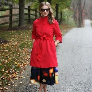 Chicwish red half sleeve wool coat